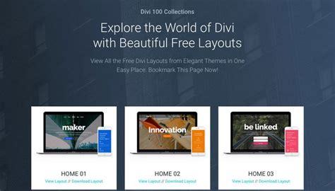 236 Best Divi Theme Resources Images On Pinterest Best Web Bloom And Buttons Divi Layout Templates