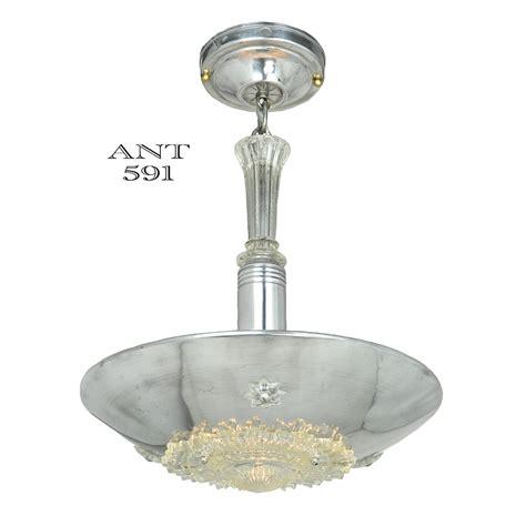 deco streamline style nickel plated pendant ceiling