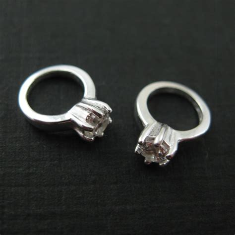 wholesale sterling silver promise ring charm with cz cubic
