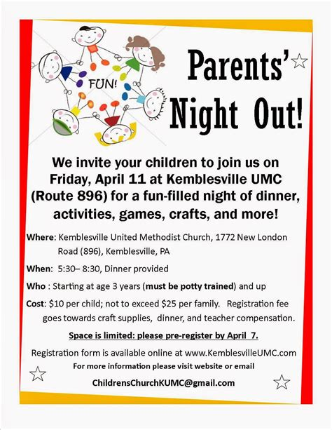 parent flyer templates things to do with in chester county parents out at kemblesville united