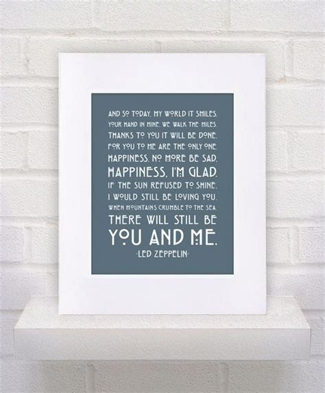 Wedding Song Always by Our Wedding Song Led Zeppelin Lyrics Thank You Framed