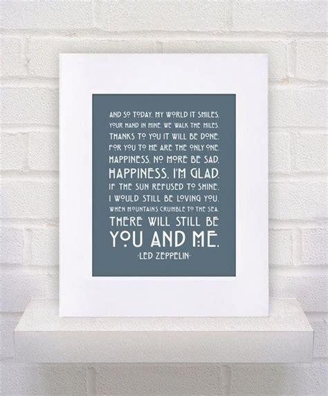 Wedding Song Led Zeppelin by Our Wedding Song Led Zeppelin Lyrics Thank You Framed