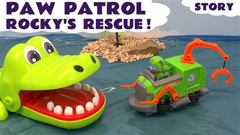 paw patrol boat episode paw patrol episode rocky s rescue kids toys story with
