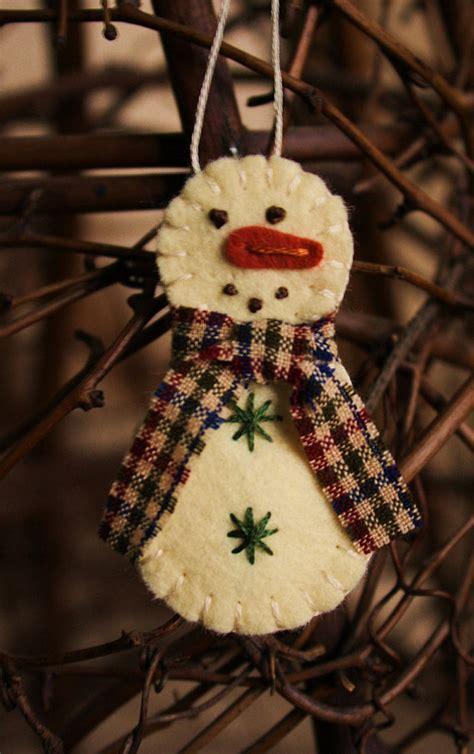 Handmade Snowman Ornaments - items similar to tiny snowman felt brooch or ornament