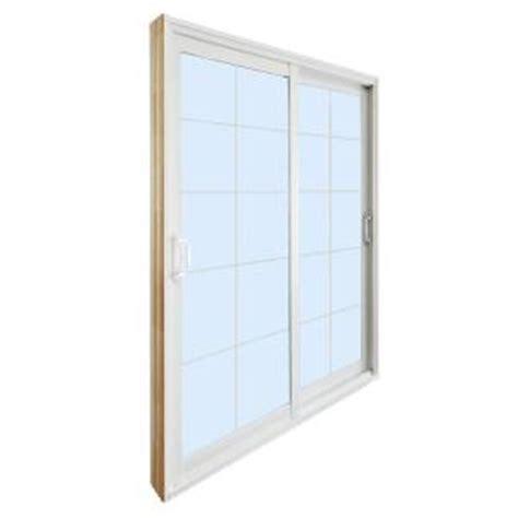 Stanley Patio Doors Stanley Doors 72 In X 80 In Sliding Patio Door With 10 Lite White Flat Grill