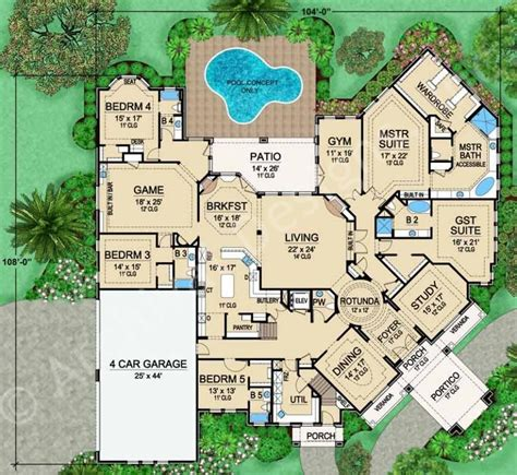 luxury estate floor plans gorgeous mainly single story mira vista house plan floor plan house house