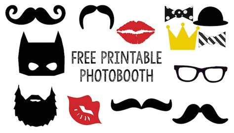 printable photo booth props black and white free printable halloween photo booth paper trail design
