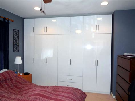 Glossy White Wardrobe Set 14 Doors Of Bedroom Storage