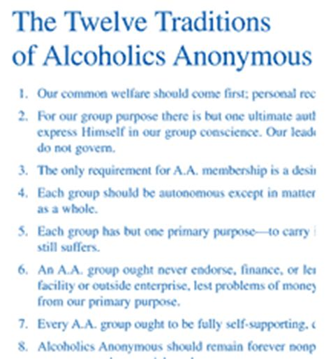 na twelve traditions alcoholics anonymous twelve traditions illustrated