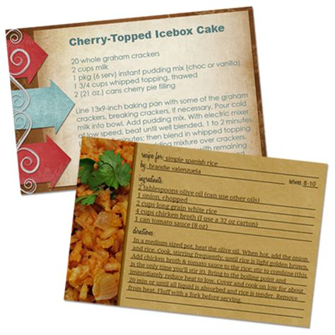 recipe card photoshop template how to make recipe cards in photoshop home cooking memories