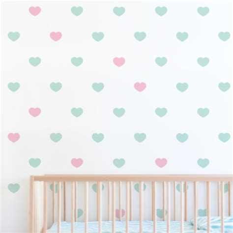Heart Wall Stickers heart pattern wall stickers amp decals for nursery