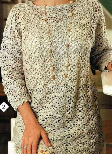 pattern crochet tunic crochet tunic top pattern easy fan lace tunic pattern women