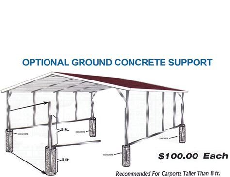 Carport Leg Extensions steel building upgrades such as leg extensions sides to the ground closed builidng ends