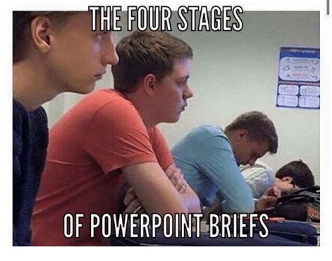 Powerpoint Meme - the four stages of powerpoint briefs powerpoint meme on