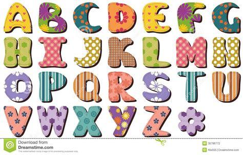 Patchwork Letters - patchwork scrapbook alphabet stock illustration image