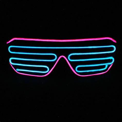neon pink lights neon pink blue light up shutter shades glowculture com