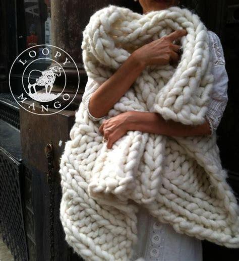big knitting wool loopy mango chunky wool large skein getmaking