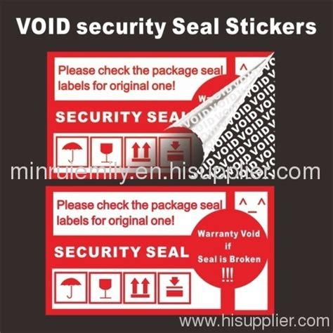 printable void labels custom warranty void labels from china ter proof void