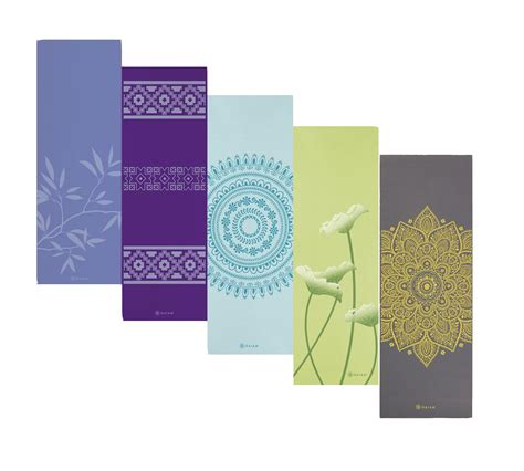 Gaiam Mat Wash by Gaiam Ash Leaves Print Premium Mat 5mm