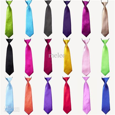 tie color baby boy school wedding elastic neckties neck ties solid