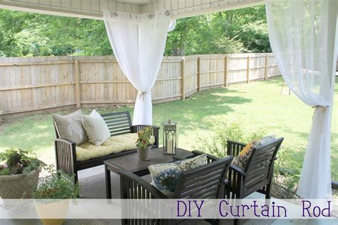 Diy Outdoor Curtains Diy Curtain Rod Chippasunshine