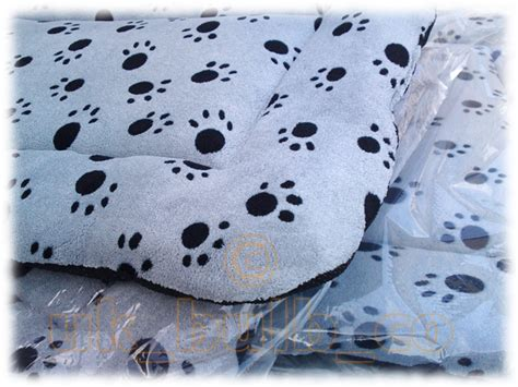 paw print comforter quilted dog pillow bedding bed padded grey black paw