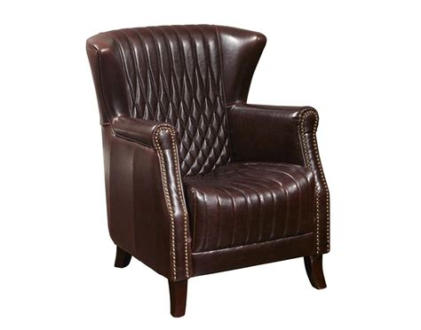 leather accent pulaski murray leather accent wing chair
