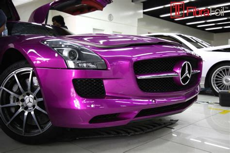 light pink mercedes sls amg in pink foliert nur in dubai mercedes