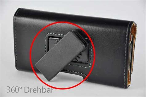 bridge iphone  holster guertel tasche quer mit verstellbarer halterung schwarz glatt