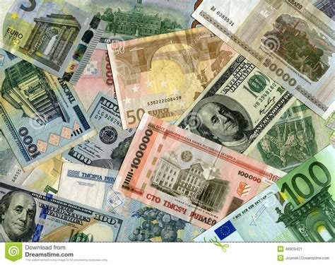 currency rub background banknotes us dollars and belarus