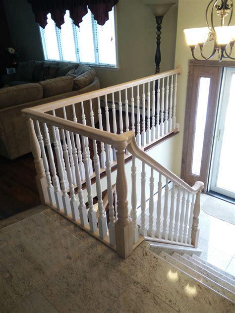 smithtown long island dkp wood railings stairs