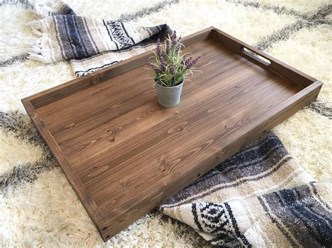 Rustic Ottoman Tray Rustic Wooden Ottoman Tray Coffee Table Tray Serving Tray