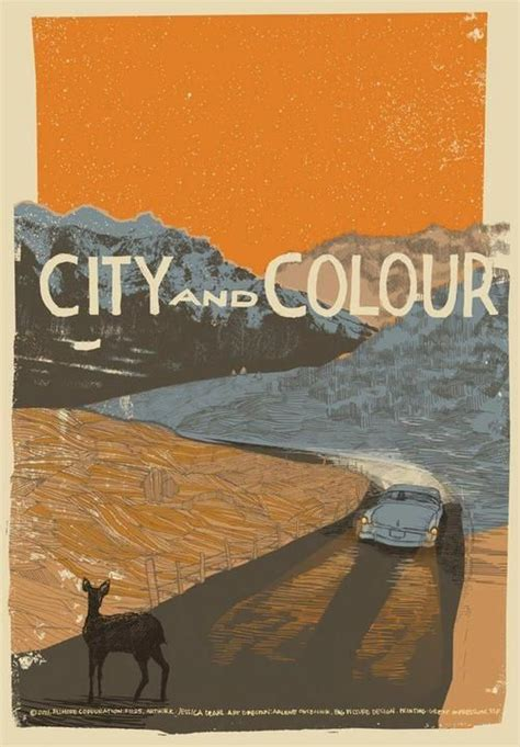 city and color tour hopefisch silver and gold city and colour tour poster