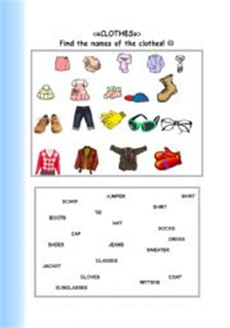 clothes matching worksheets english worksheet a matching activity clothes