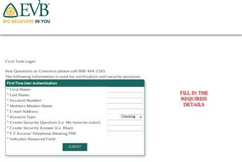 evb bank login evb bank banking login cc bank