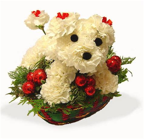 puppy flowers lovely flower design swan
