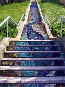 Mosaic Stairs by World S Most Beautiful Street Stair Art Moco Choco