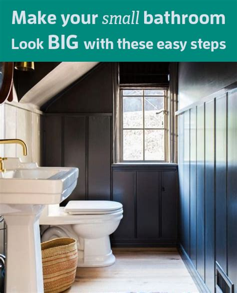 make a small bathroom feel make your small bathroom look big with these easy steps