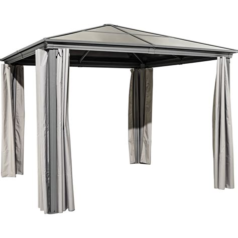 pavillon hellweg haveson pavillon norderney 300x300 cm mit seitenteilen