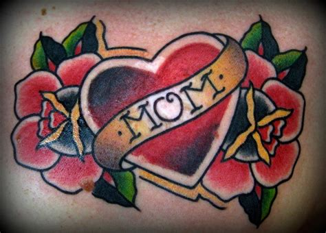 mom heart tattoo 38 traditional tattoos ideas
