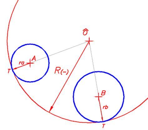 tangentes interiores a dos circunferencias arcos tangentes