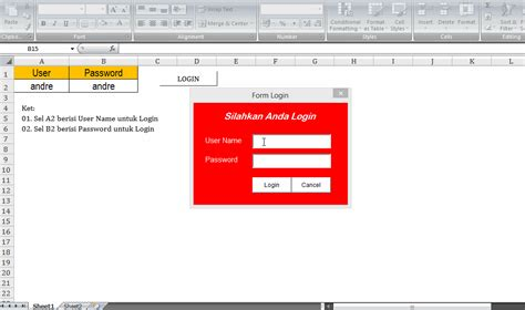 Cara Membuat Form Login Di Vba Excel | cara membuat form login di vba excel informasi