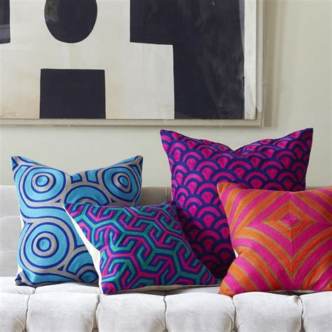 modern throw pillows for sofa best 25 blue decorative