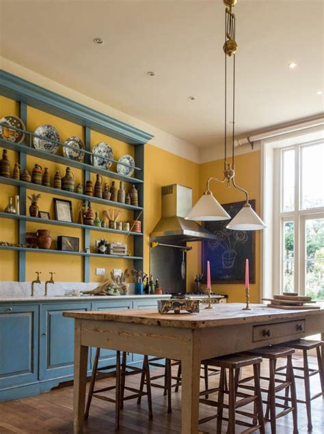 bold colors vintage country kitchen in bold colors digsdigs