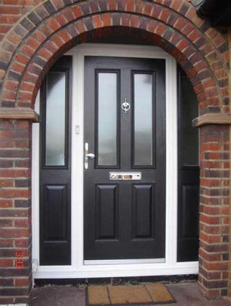 black upvc front doors grp doors offer high security just value doors
