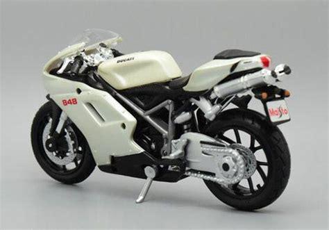 Maisto 118 Ducati 848 Us white 1 18 scale maisto diecast ducati 848 motorcycle model nm01b032 ezmotortoys