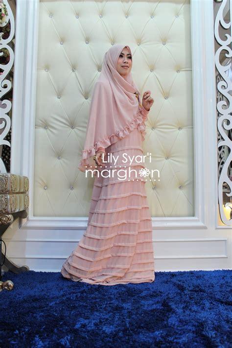 Terlaris Gamis Syari Hasna Brown Baju Muslim Modern syar i soft pink baju muslim gamis modern