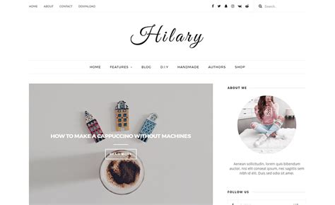 free blogger templates for your blog hilary responsive elegant blogger template