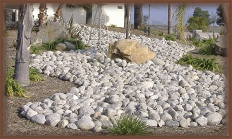 Landscape Pictures Using River Rock River Rock Garden Ideas Photograph River Rock Landscaping