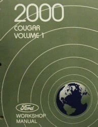 best car repair manuals 2000 mercury cougar user handbook 2000 mercury cougar factory service manual 2 vol set